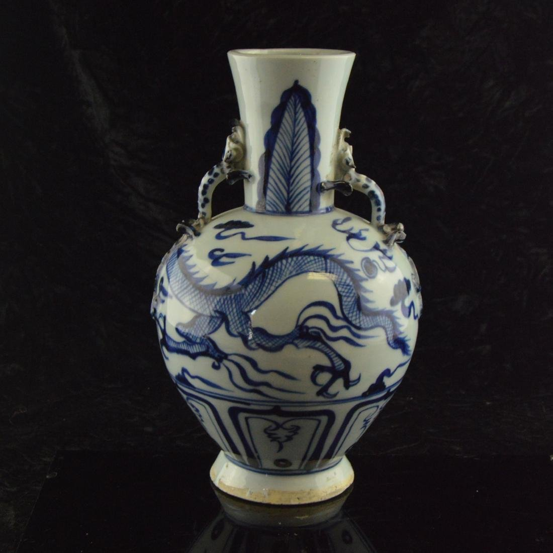 Amphora Dragon Vase - 3