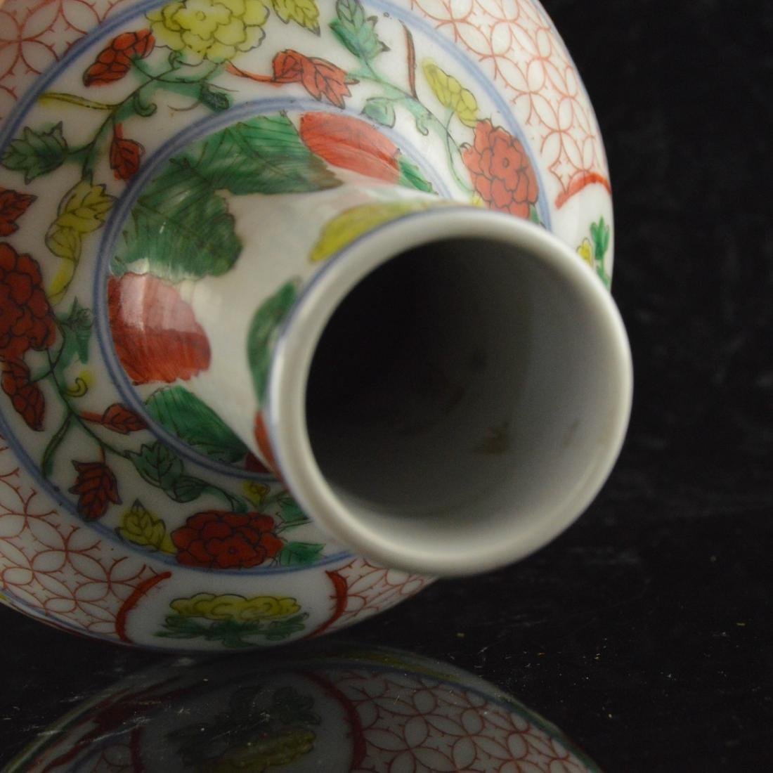 Five Color Twin Dragon Vase - 5