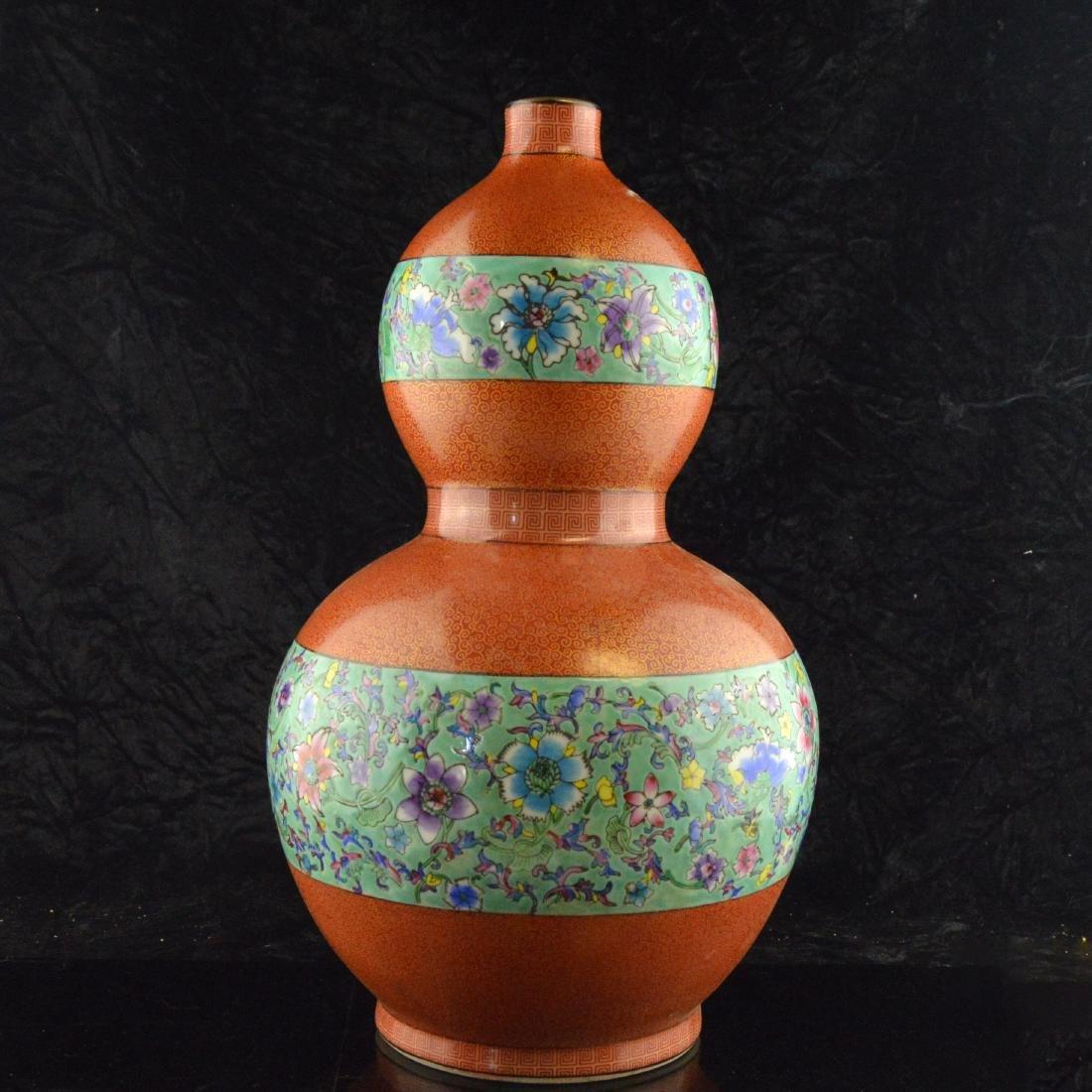 Cloisonne Ceramic Gourd - 2