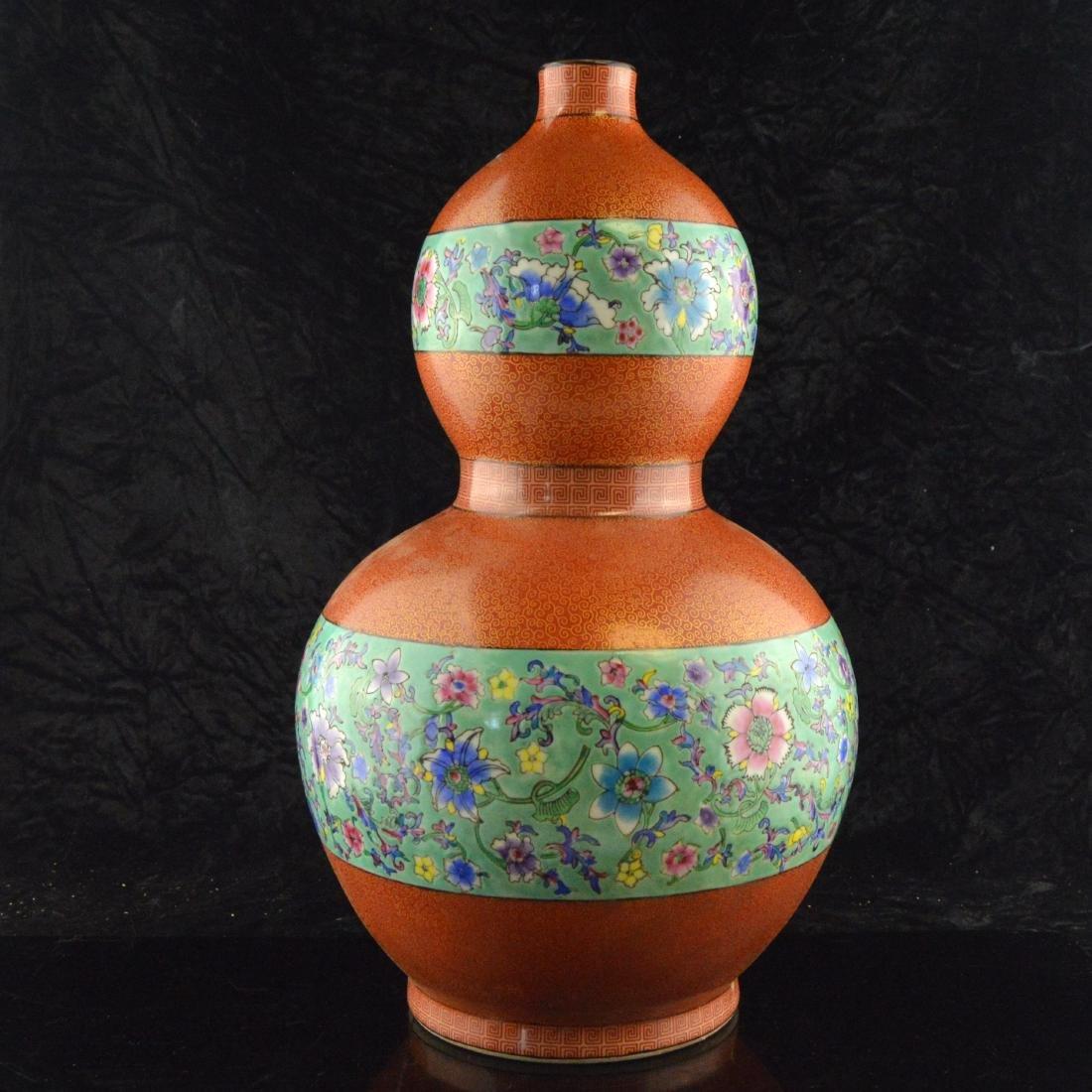 Cloisonne Ceramic Gourd - 4