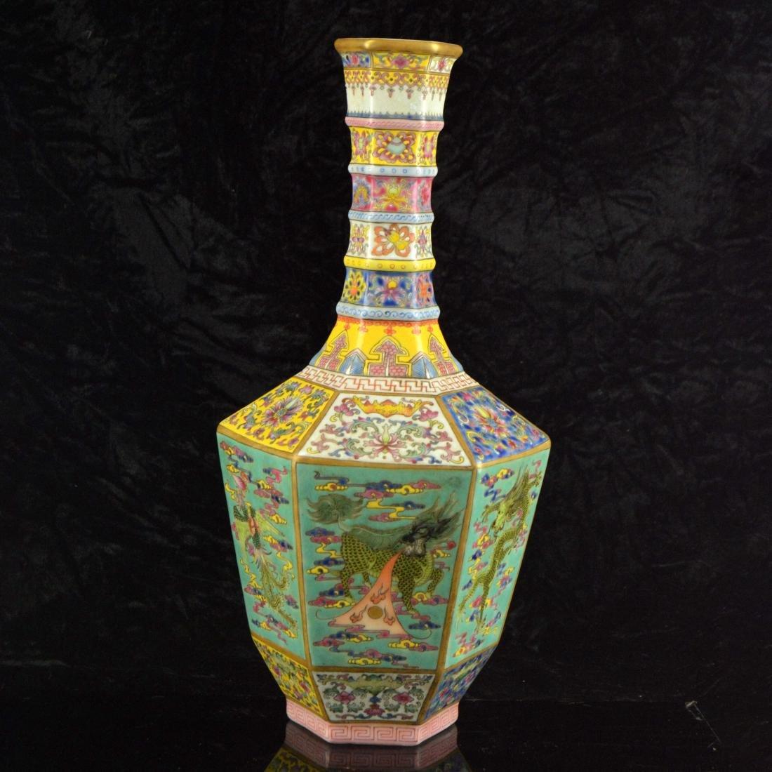 Colorful Hexagonal Mallet Vase