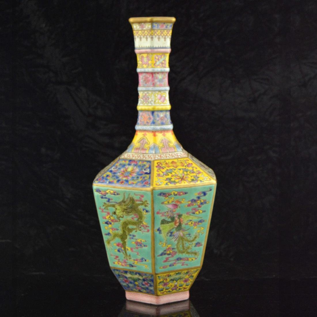 Colorful Hexagonal Mallet Vase - 2