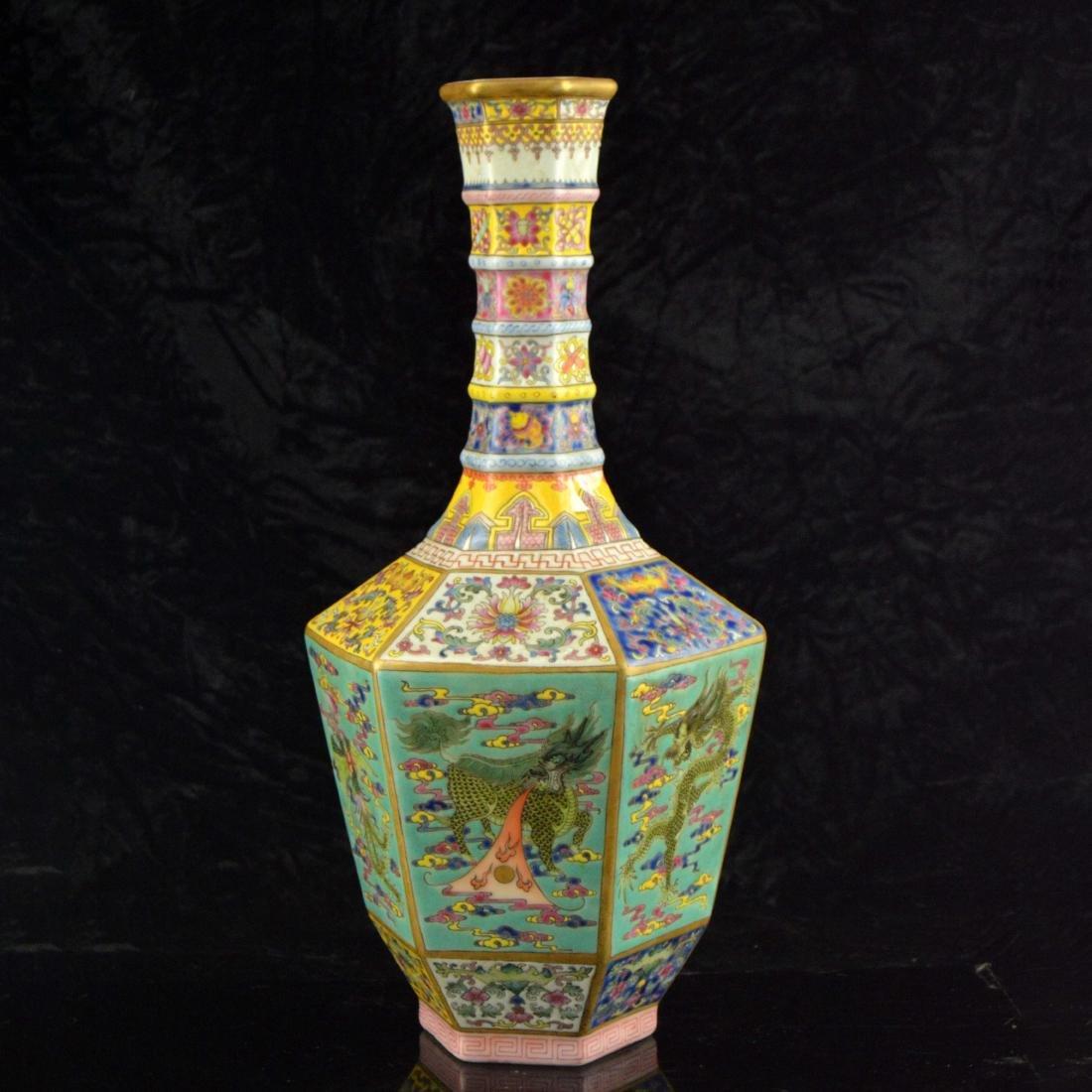 Colorful Hexagonal Mallet Vase - 3
