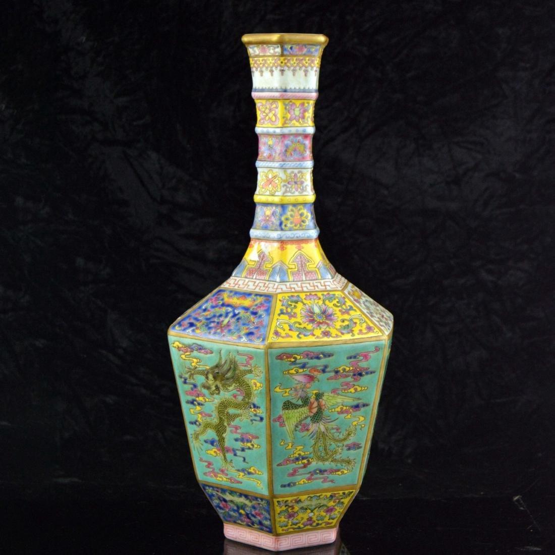 Colorful Hexagonal Mallet Vase - 4