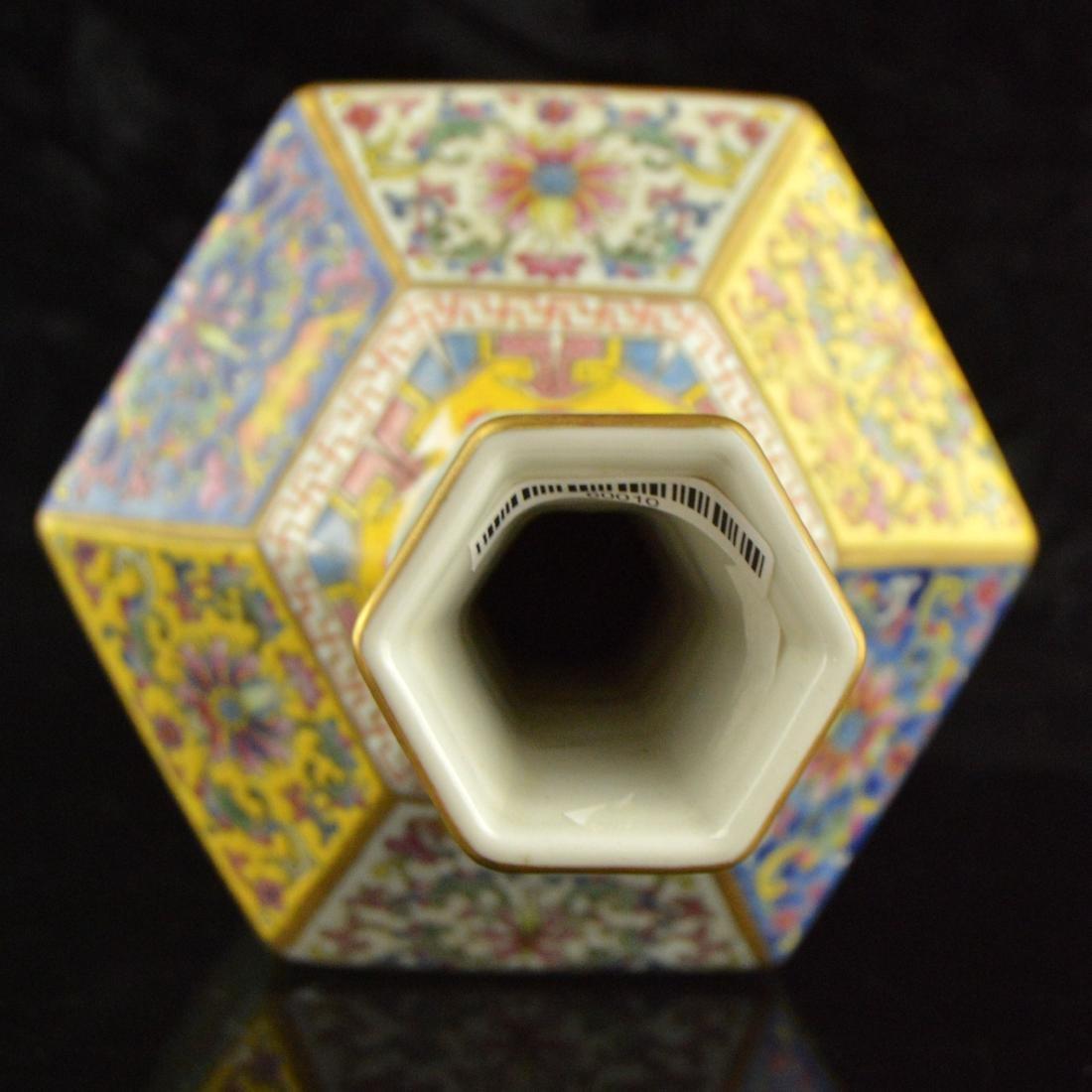 Colorful Hexagonal Mallet Vase - 5