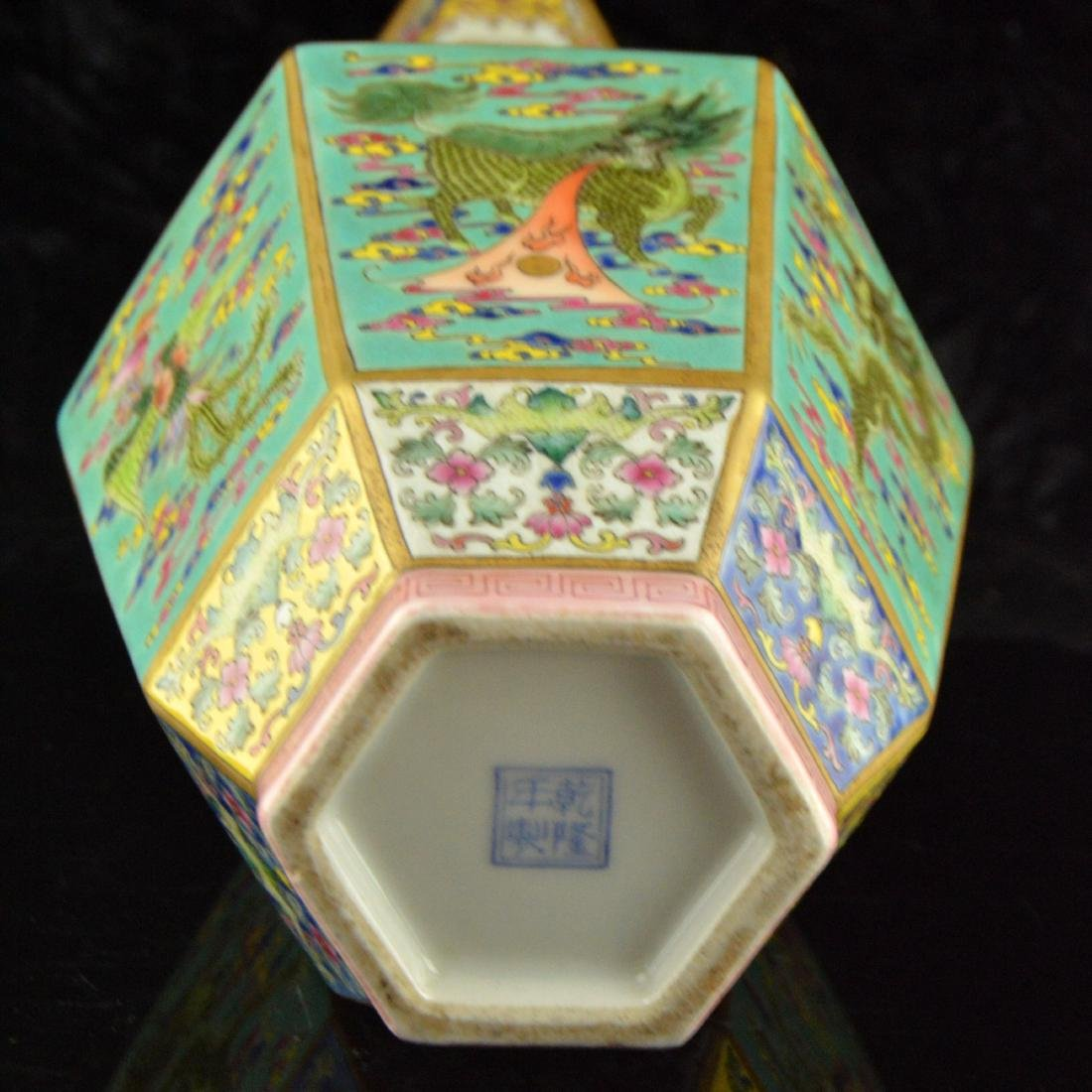 Colorful Hexagonal Mallet Vase - 6