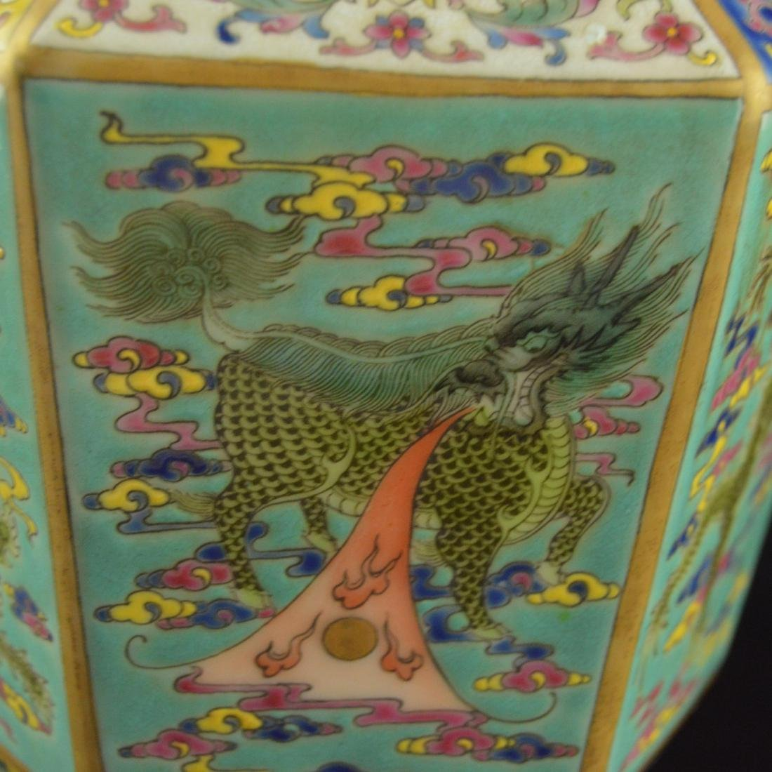 Colorful Hexagonal Mallet Vase - 8