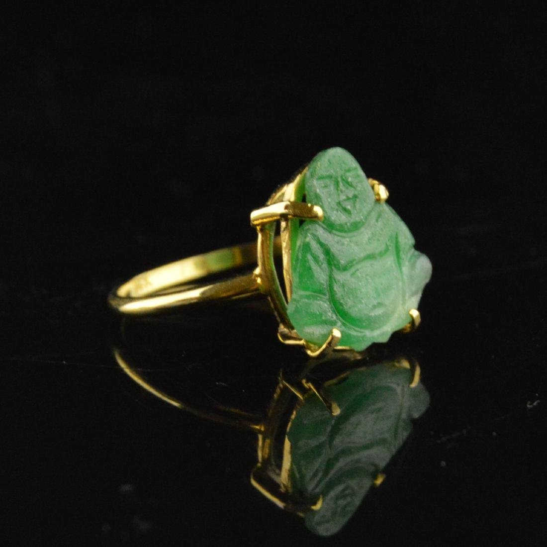14K Gold Jadeite Ring