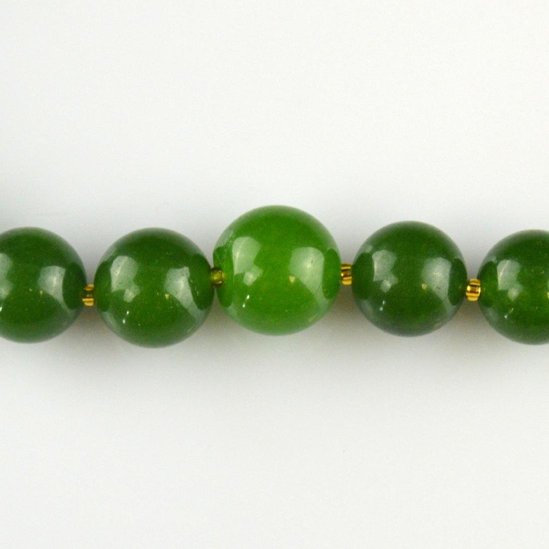 Jade Bead Necklace - 3