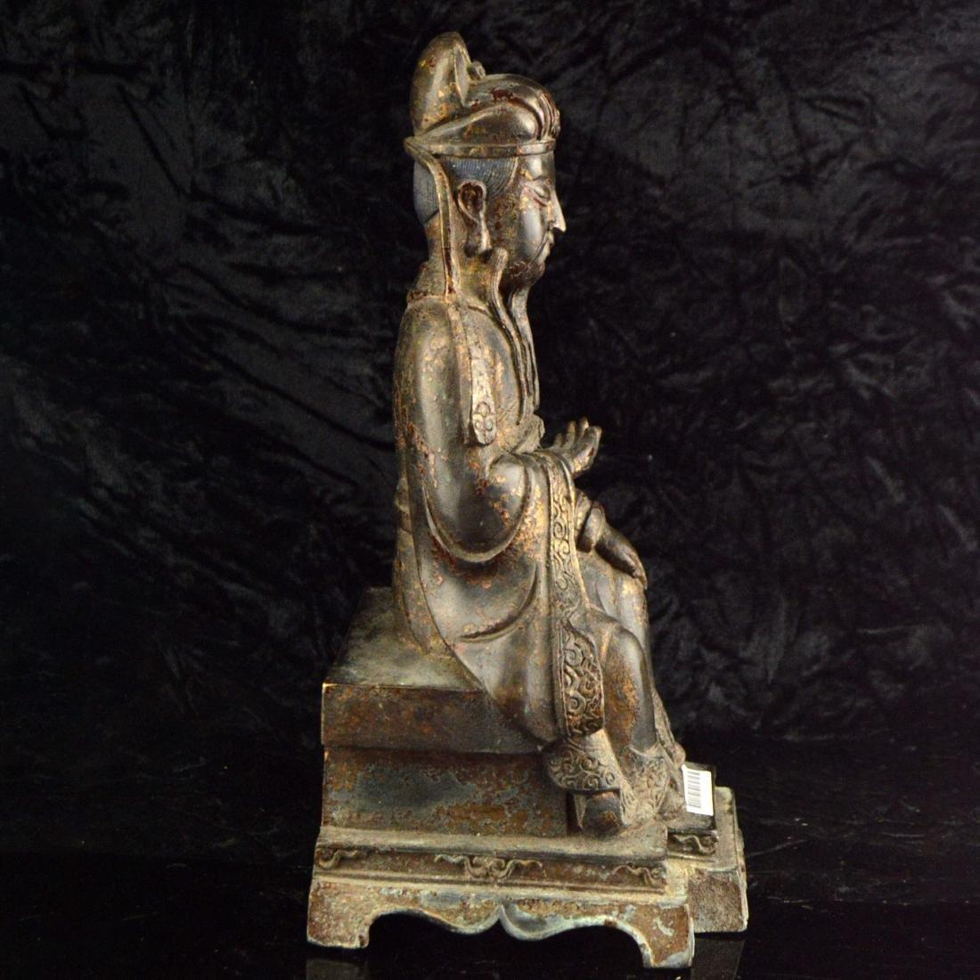 Gilt Bronze Statue - 4