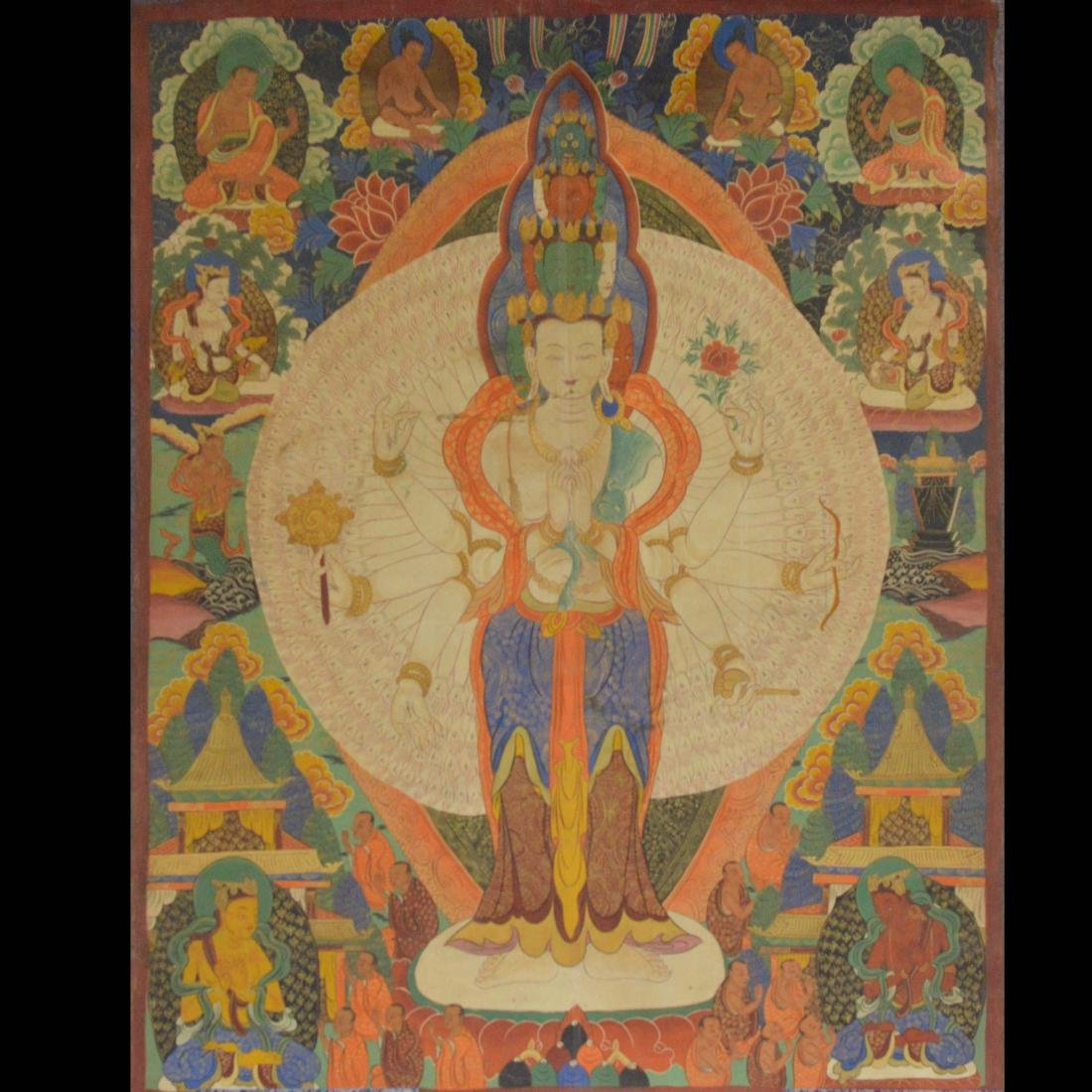 Large Antique Thangka
