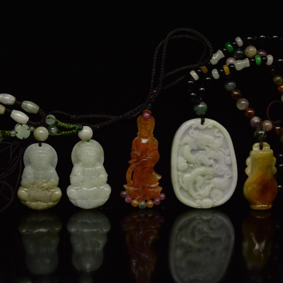 five jadeite pendant