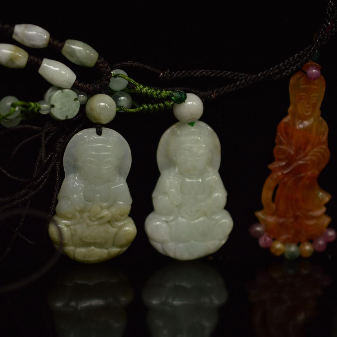 five jadeite pendant - 2