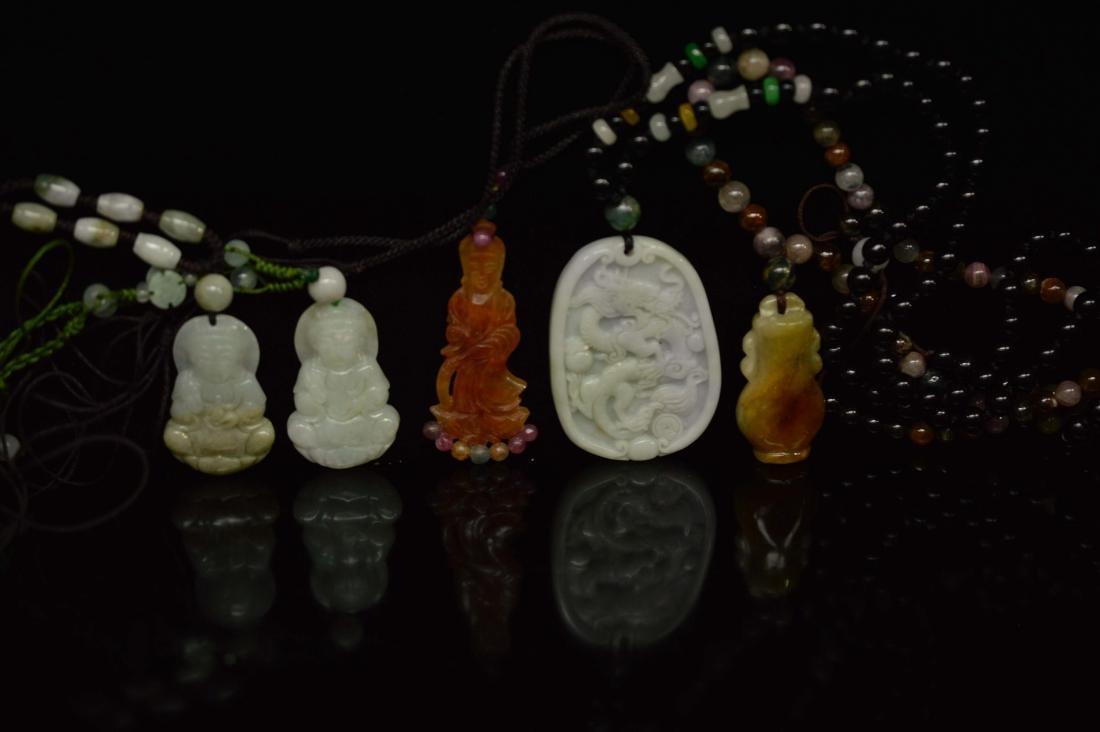 five jadeite pendant - 5