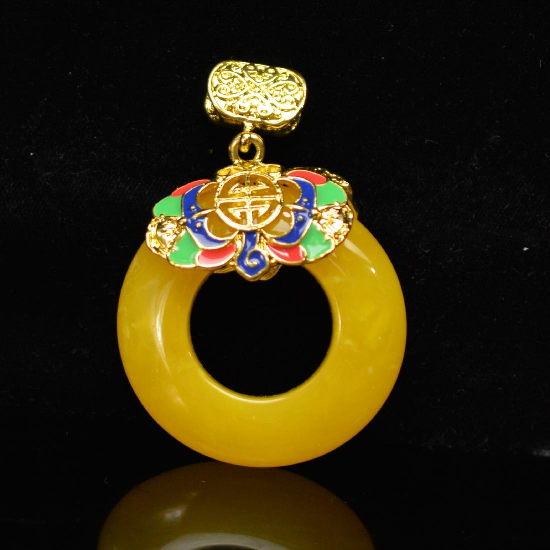Royal Amber Faience pandent