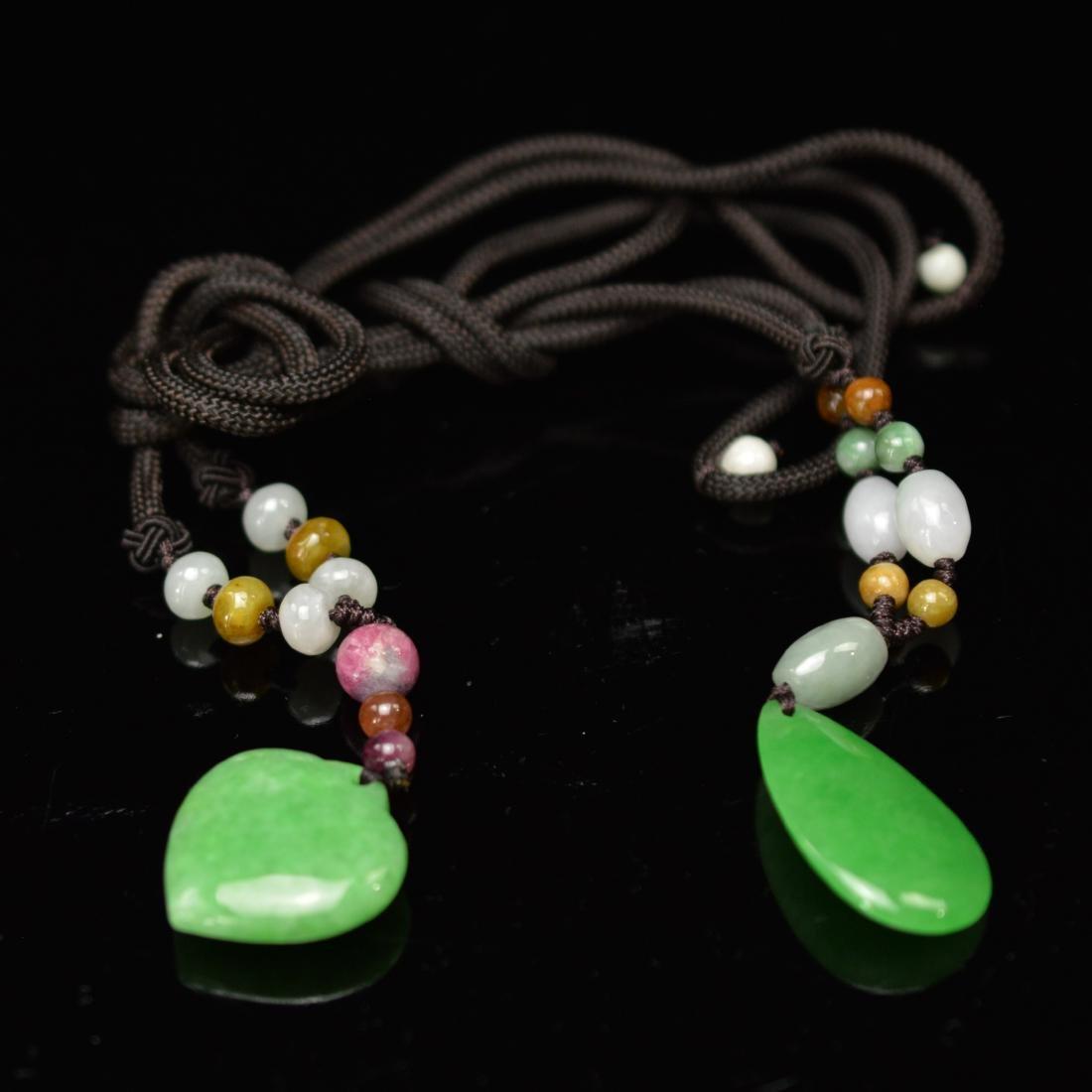 Green jadeite pendant