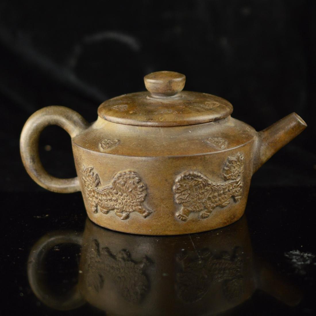 Quan long style Zisha teapot