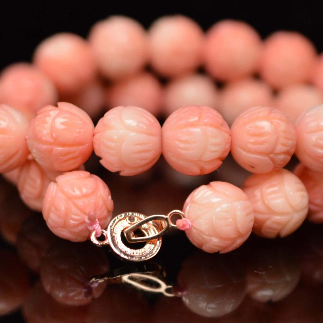 Pink coral necklace - 2