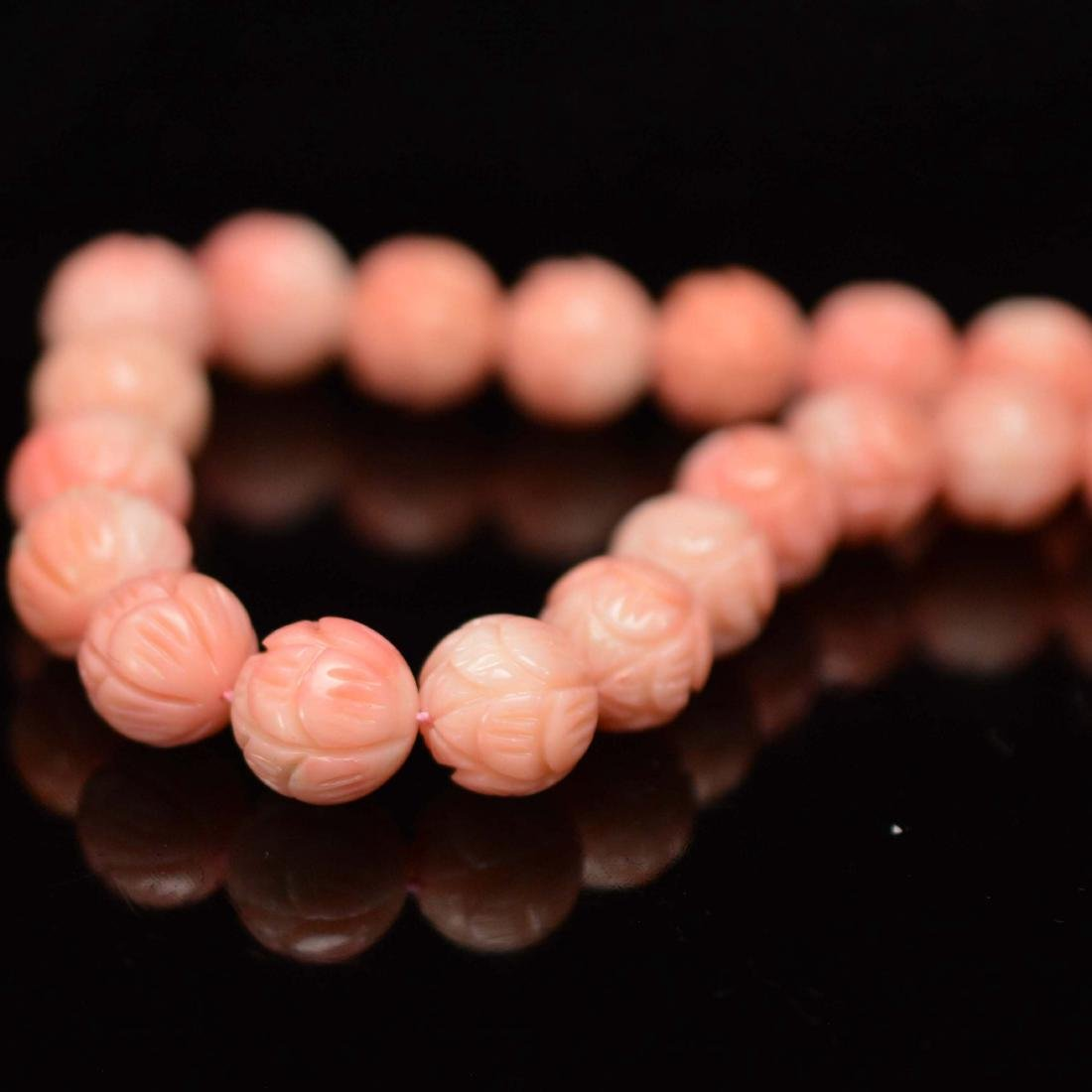 Pink coral necklace - 5