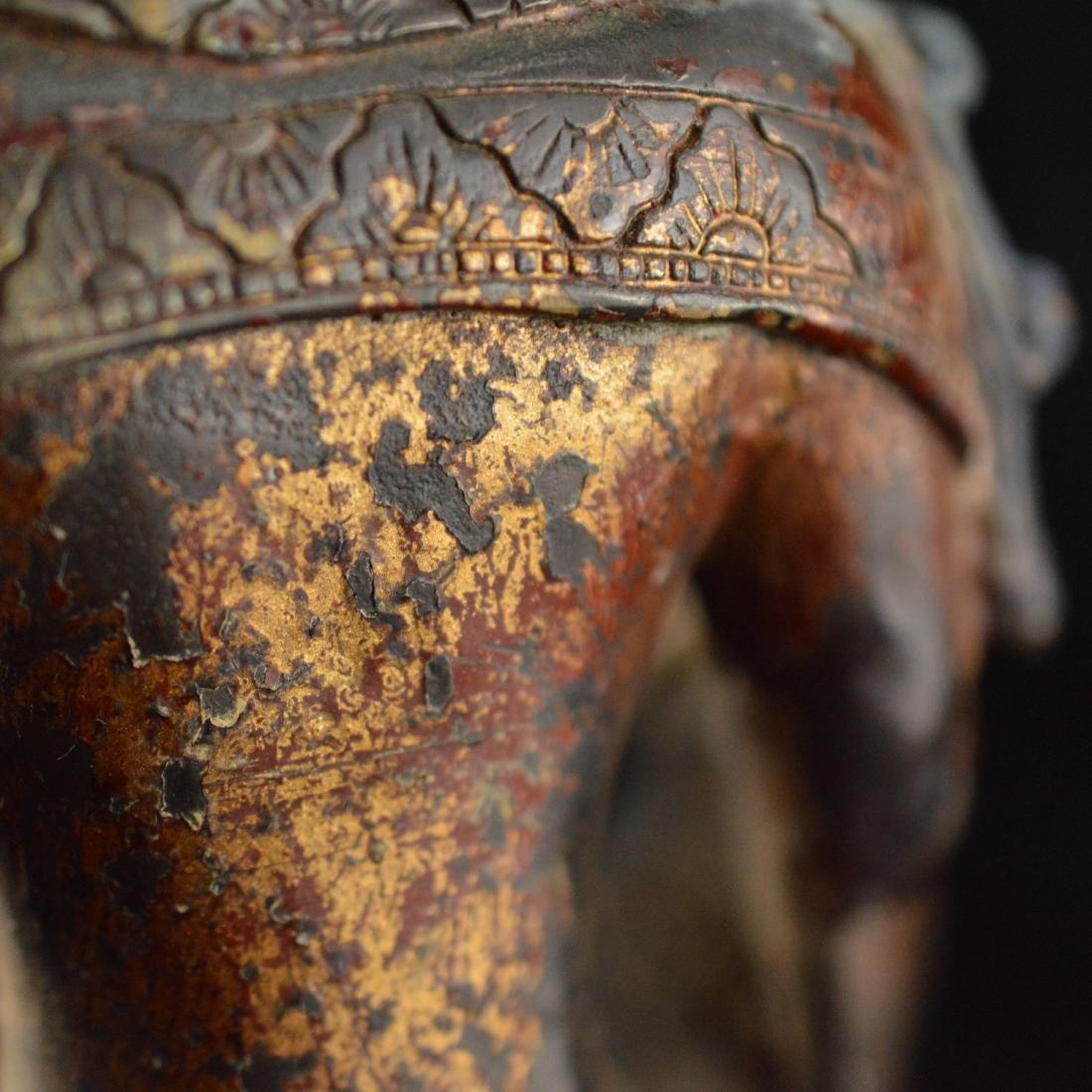 Gold Gilted bronze Guan Yin statue - 10
