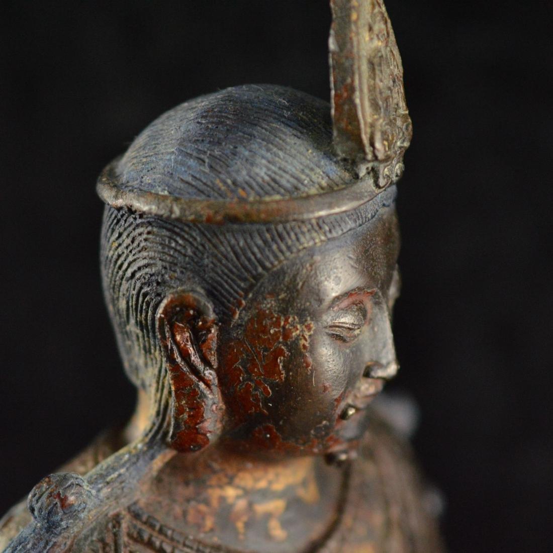 Gold Gilted bronze Guan Yin statue - 5