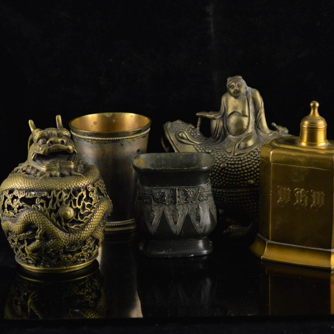 Five metal and bronze objects
