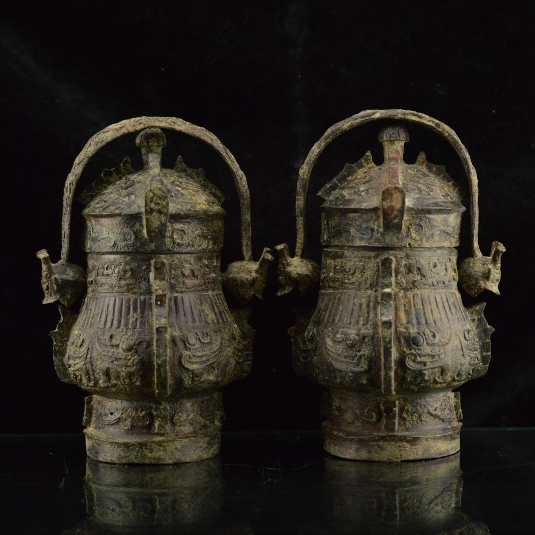 Pair of replica ritual bronze