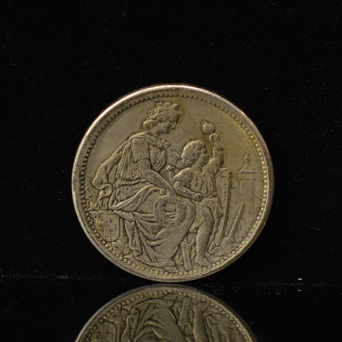 A1796 US libery Silver coins and A 1865 5 Francs coin - 4