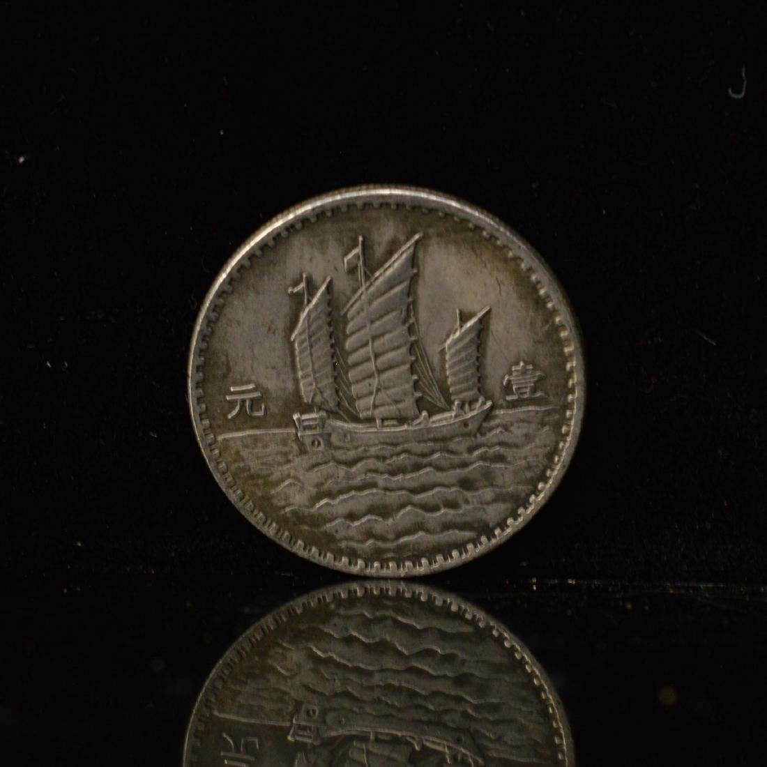 Two ROC 18years dollar Silver coins - 3