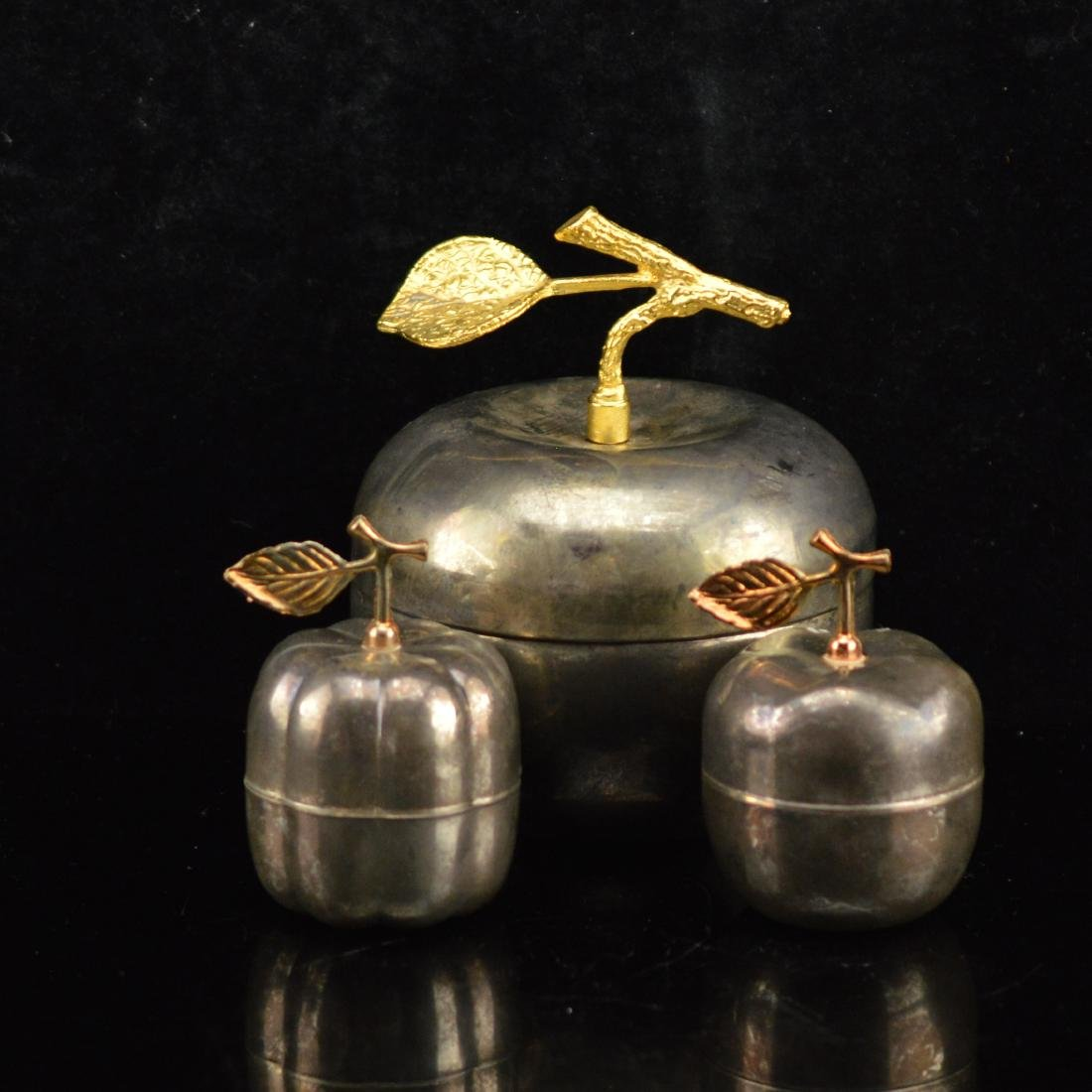 3 piece apple jewelry container
