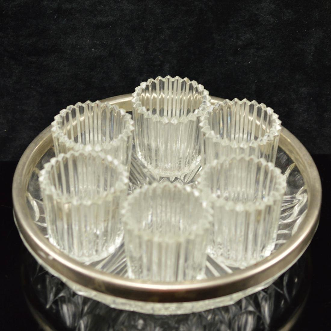 Crystal cup & Tray set