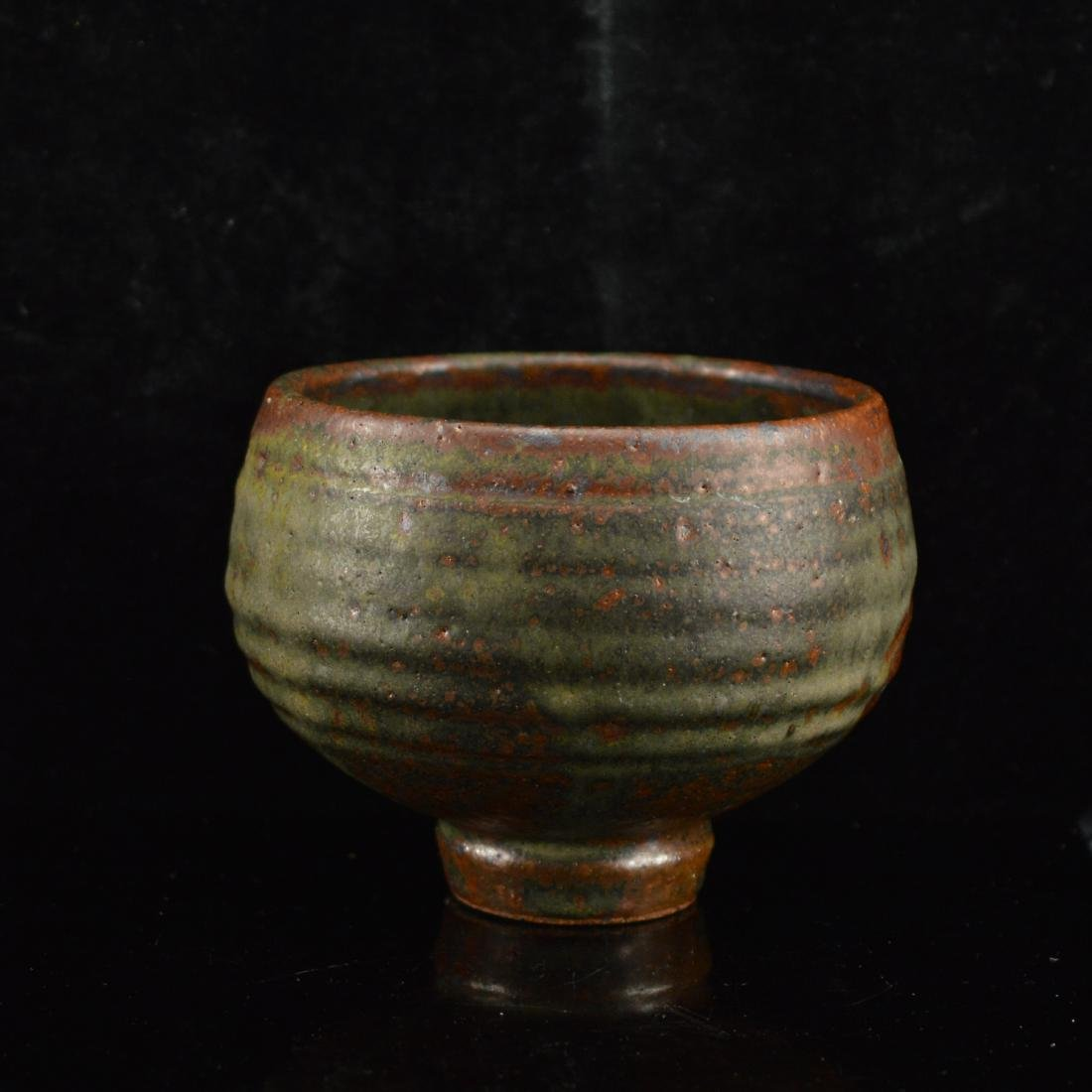 Antique Red and green Ceramic bowl