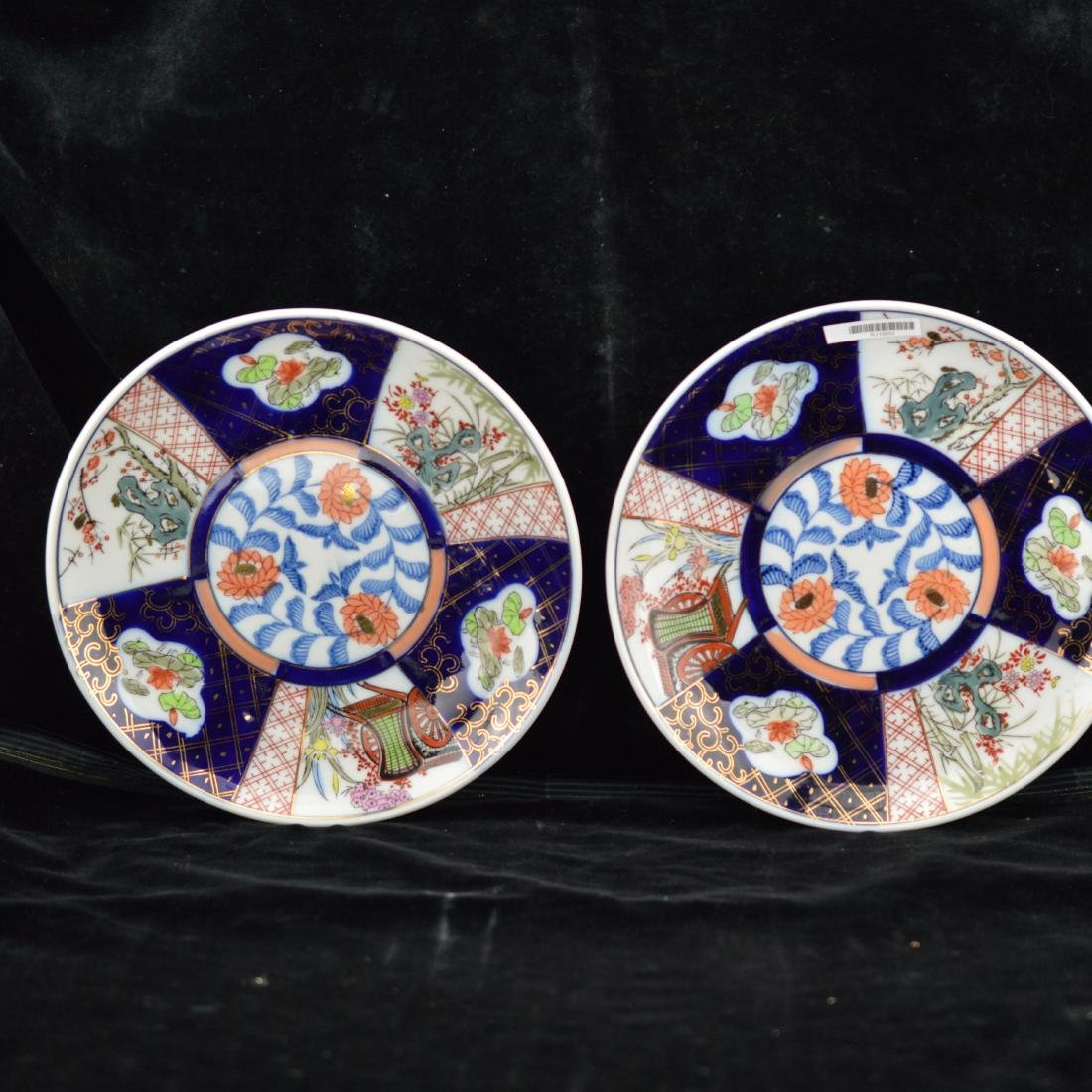Pair of Fencai Porcelain plates