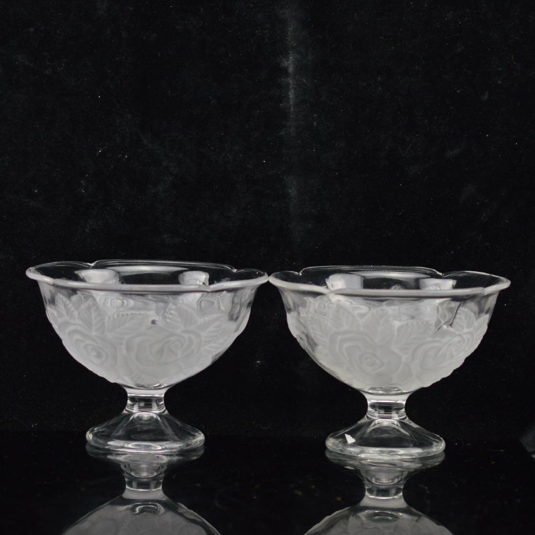 Pair of Matte Rose dessert goblets