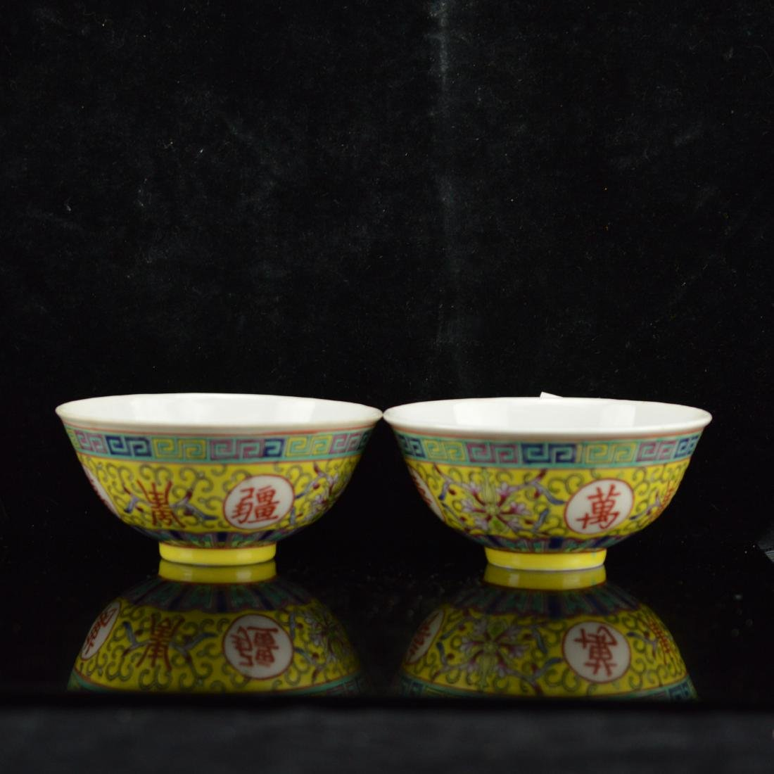 A pair of chinese bowl