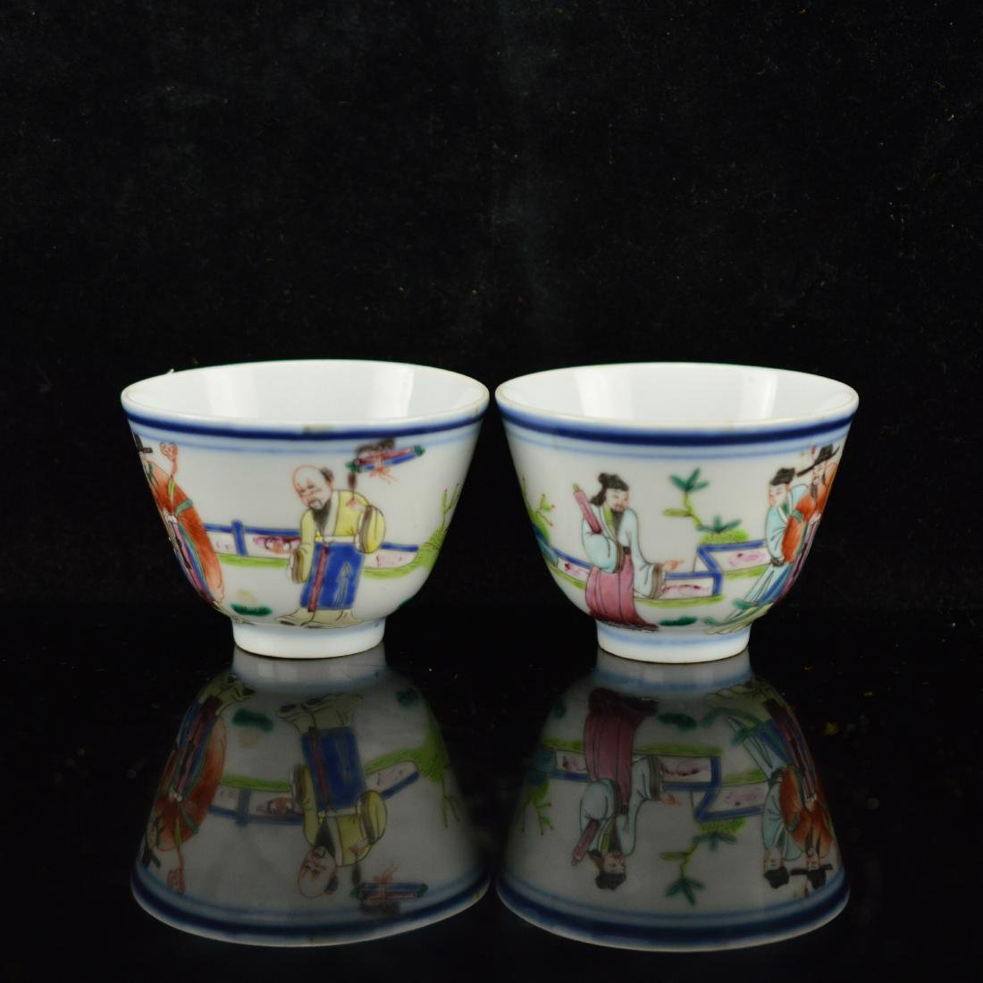 Pair of small porcelain cups