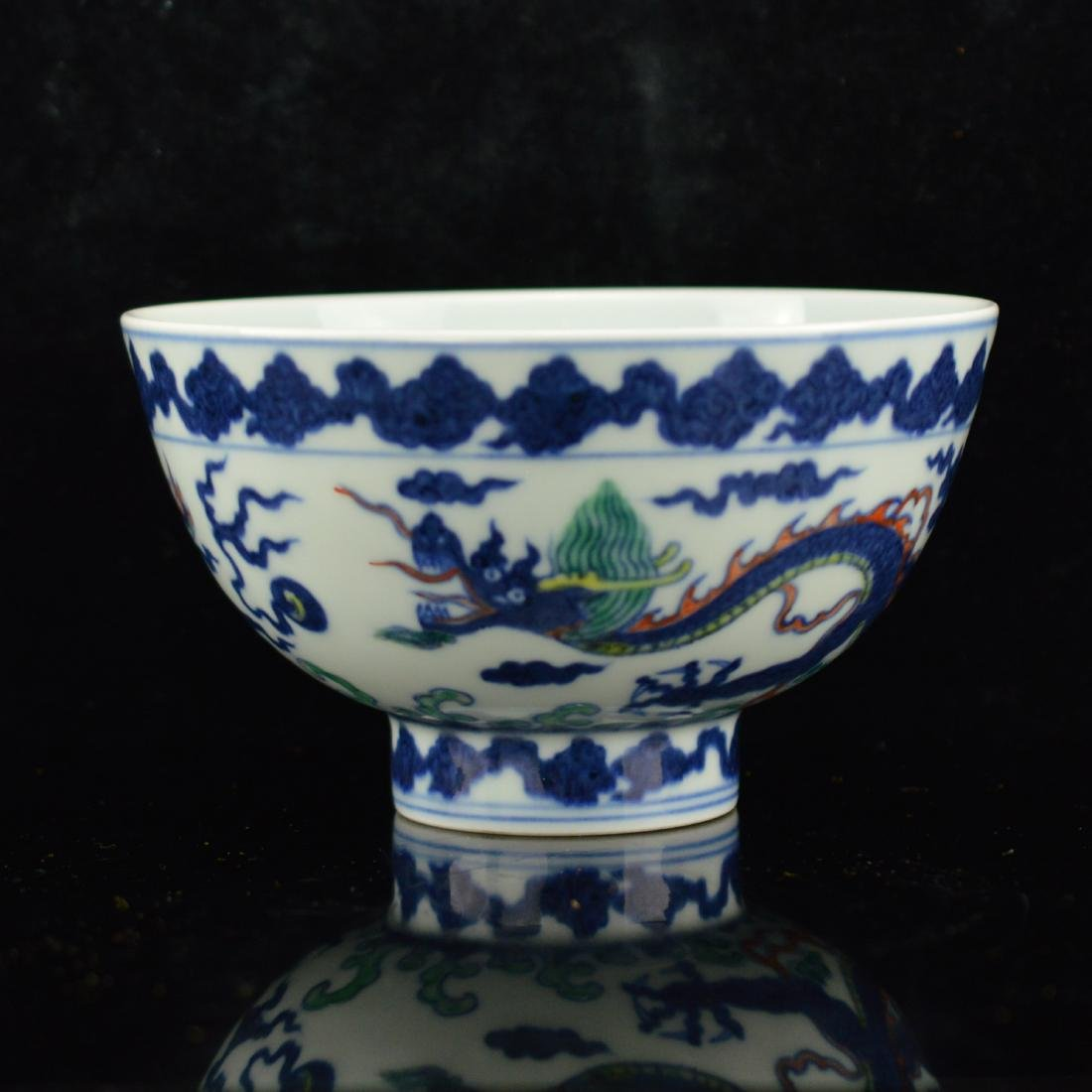 Ming style Porcelain bowl with box