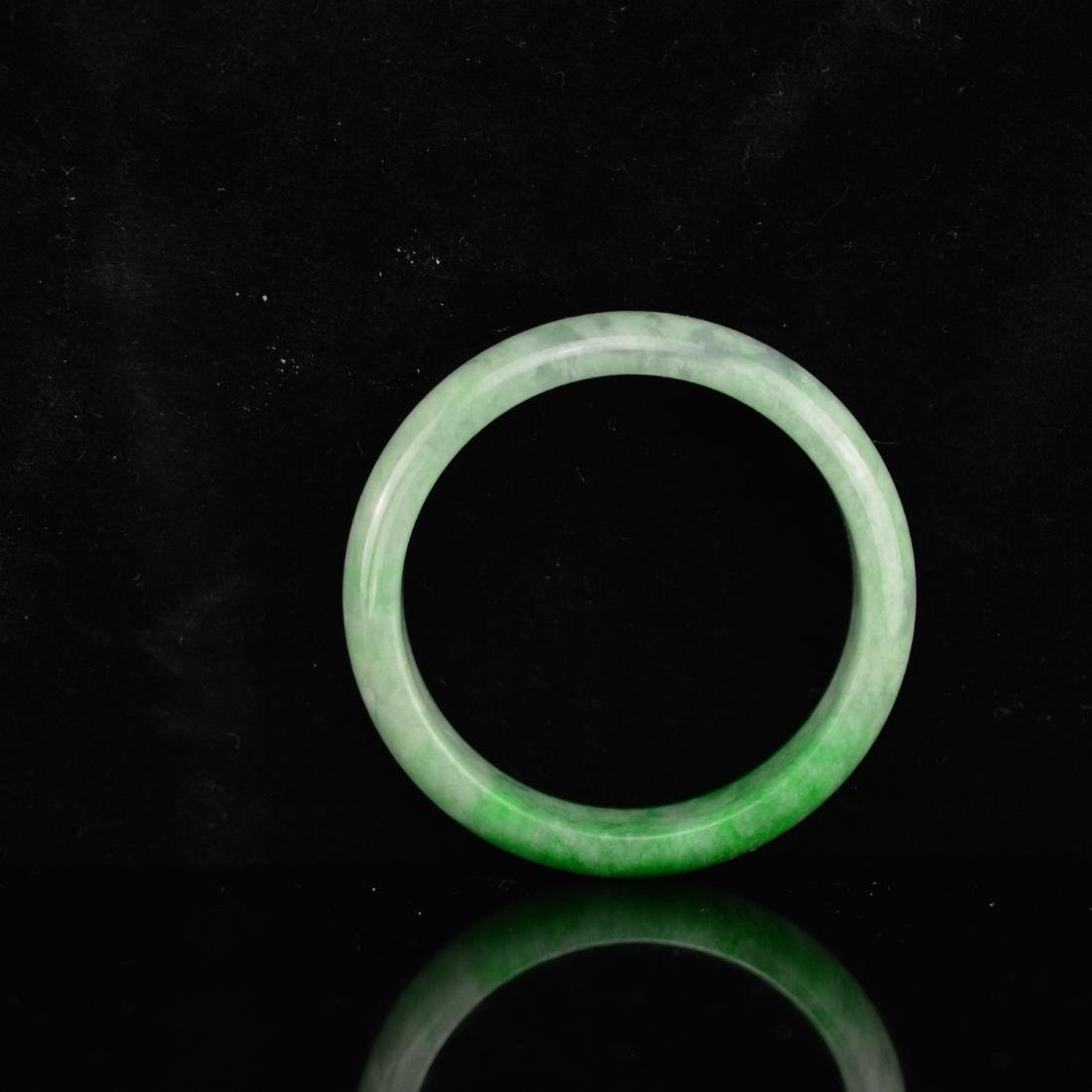 Green jadeite bangle