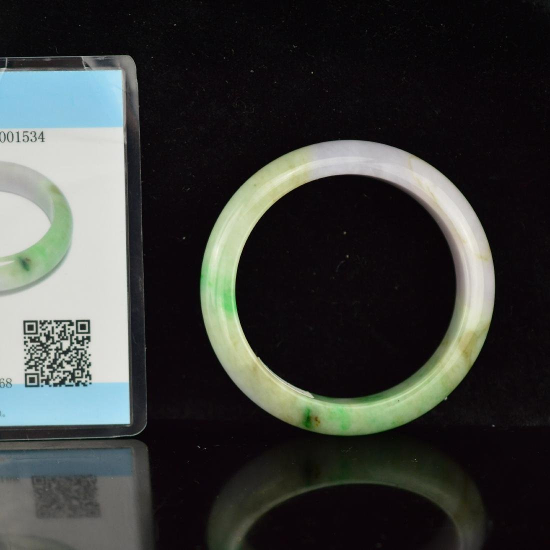 Certified Natural Burma Spring style jadeite bangle
