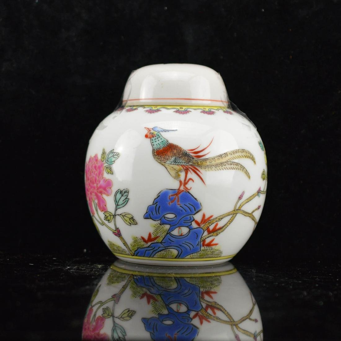 Peacock Porcelain Container