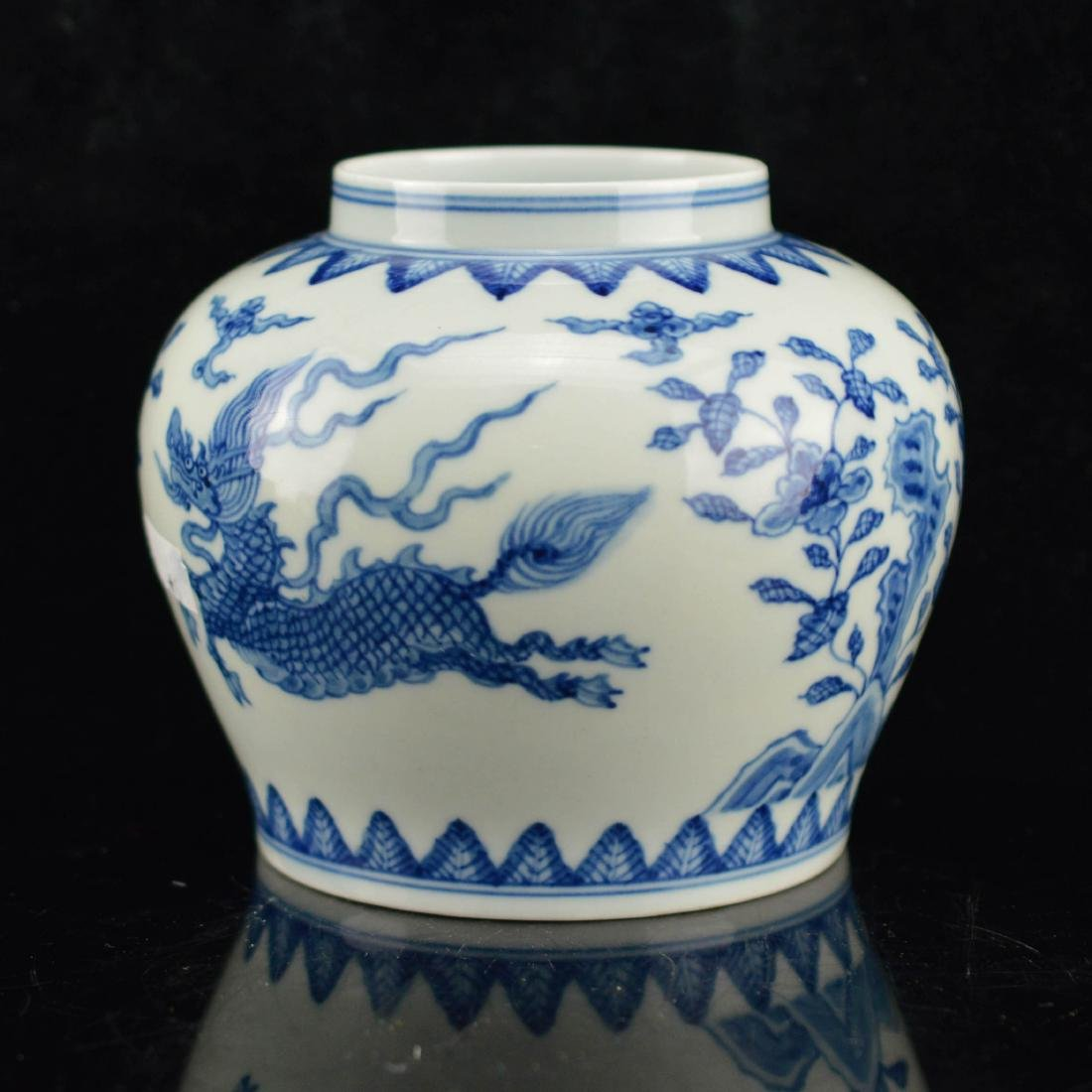 Porcelain Floral dragon jar