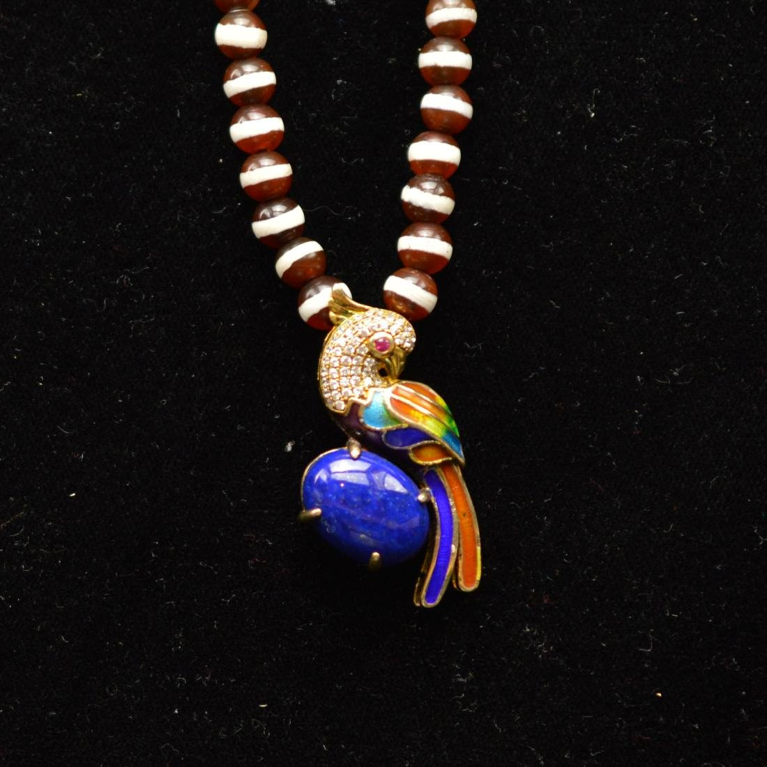 Carnelian Enamel necklace
