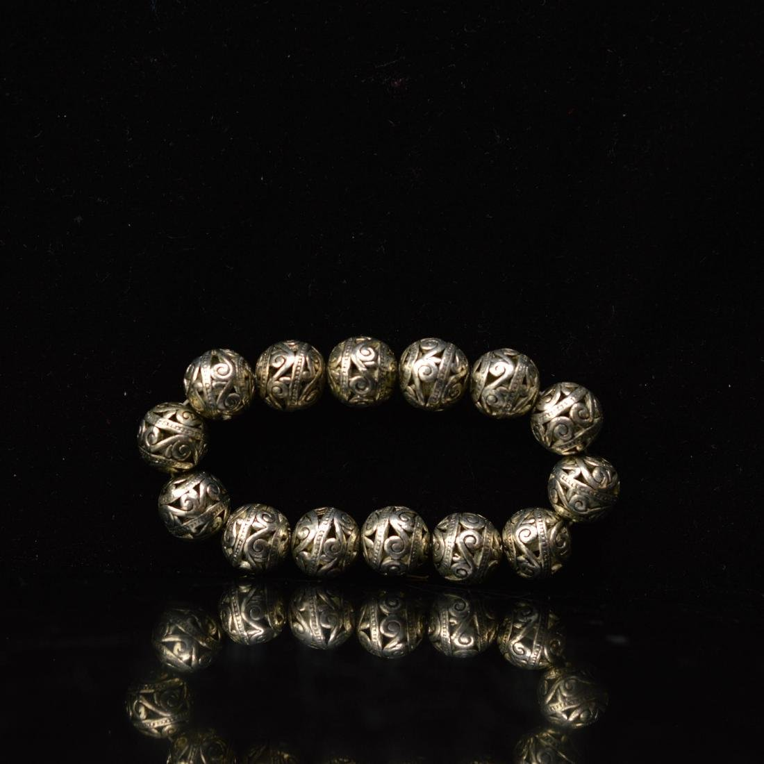 Tebetan silver style beads bracelet