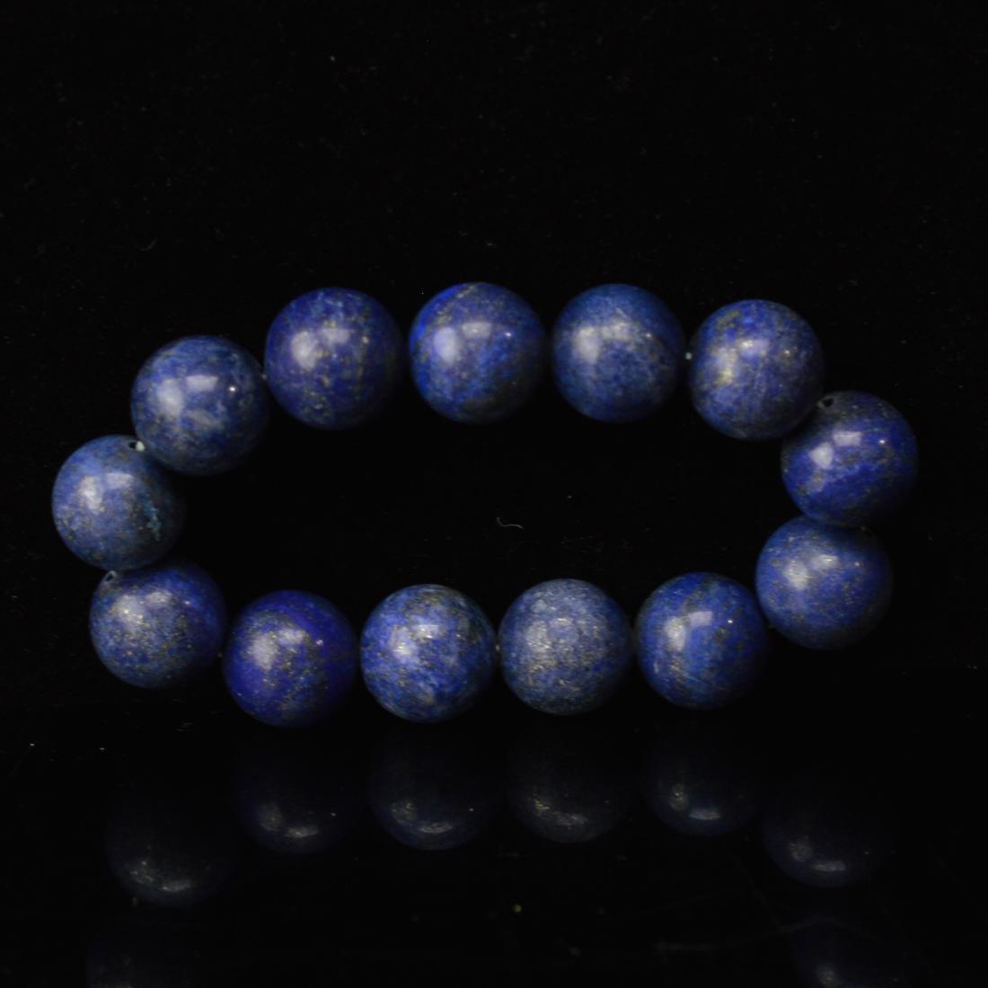 Large Lapis lazuli bean bracelet