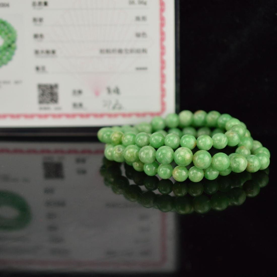 Natural Green jadeite beads bracelet