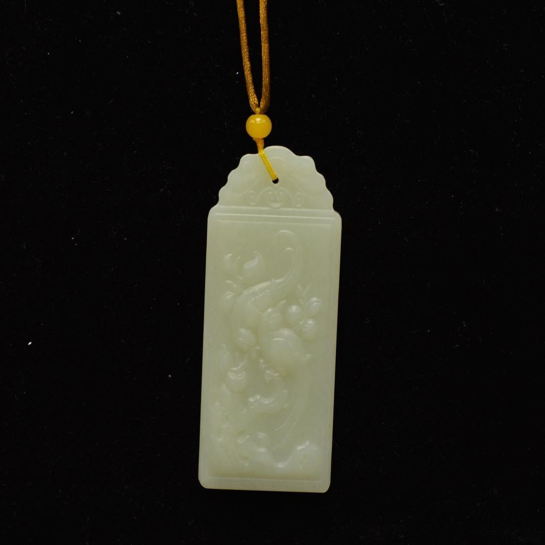 Certified Natural Hetian pendant
