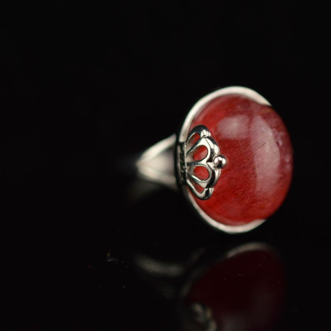 Red Rutilated Quarts ring
