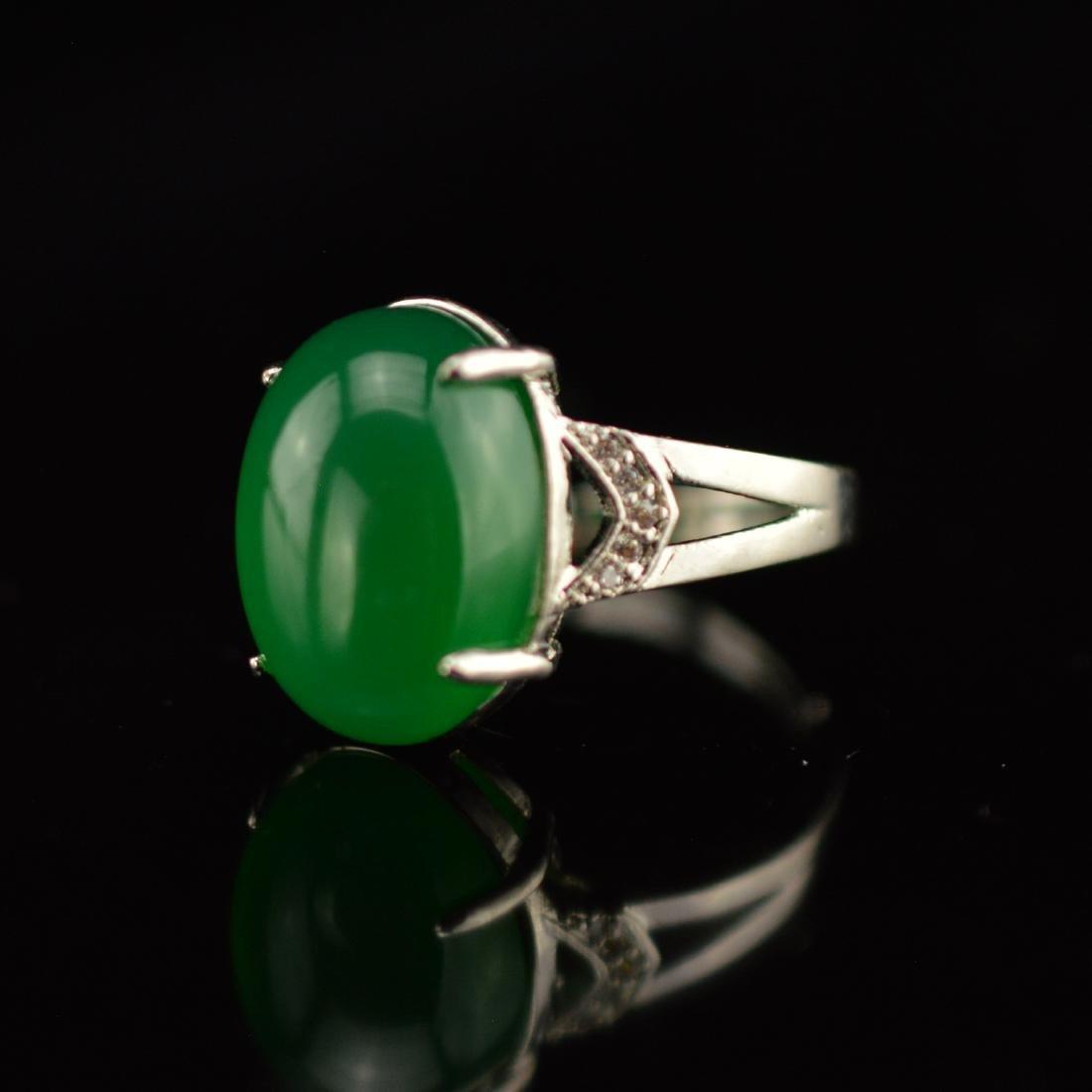 Chalcedony Diamond Ring