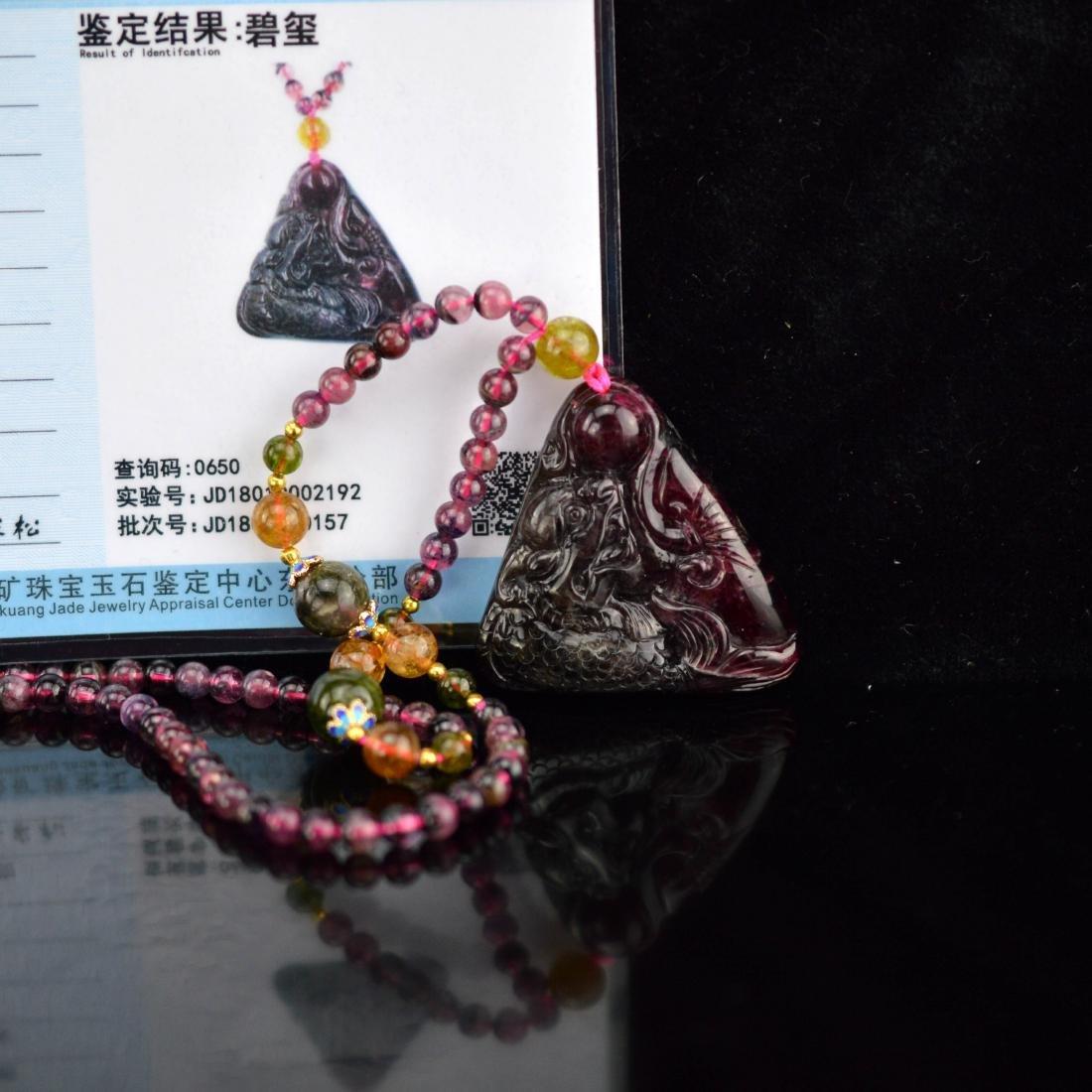 Certified Blood Tourmaline pendant