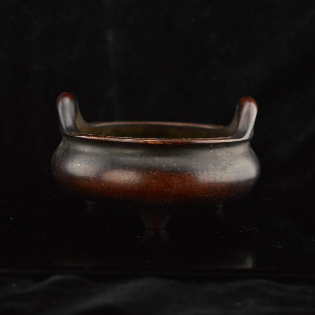 Ming Style Dual ears tripod incense burner